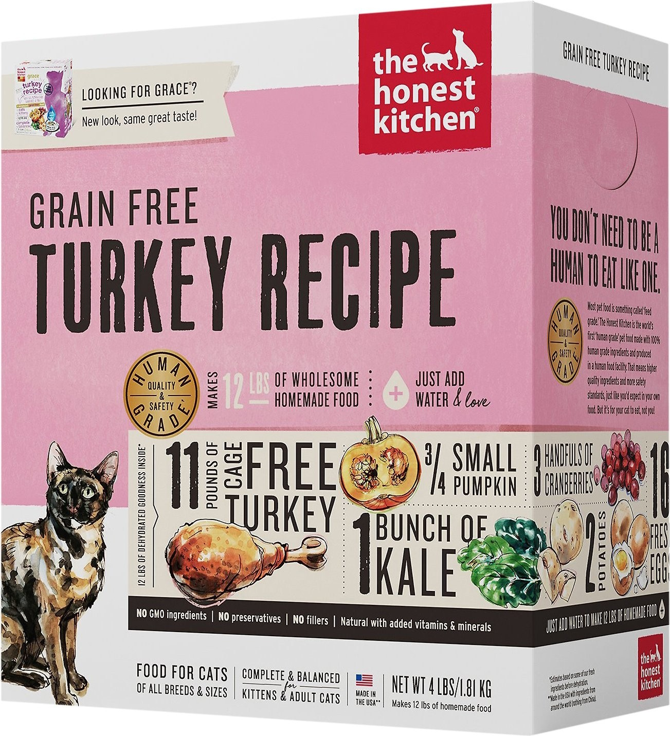 The Honest Kitchen Grace Dehydrated Cat Kitten Food 2 Lb