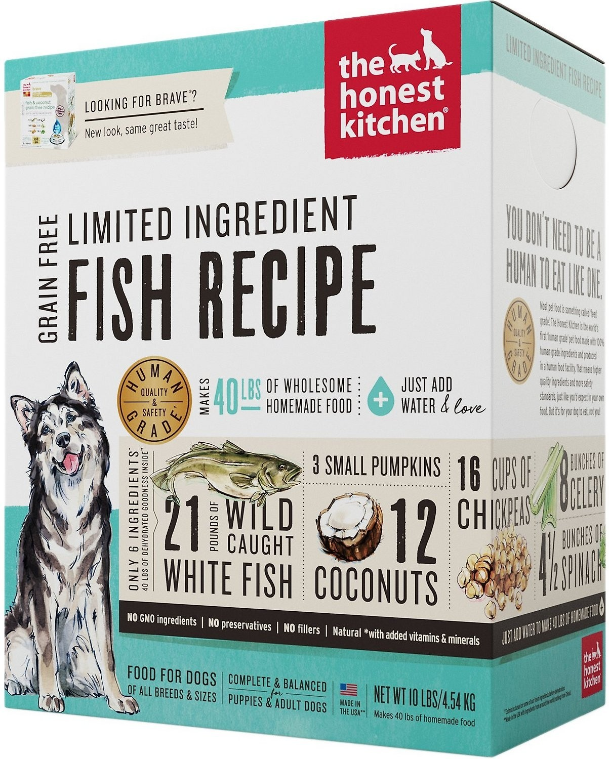 The Honest Kitchen Brave Dehydrated Dog Food 4 Lb Freeze Dried