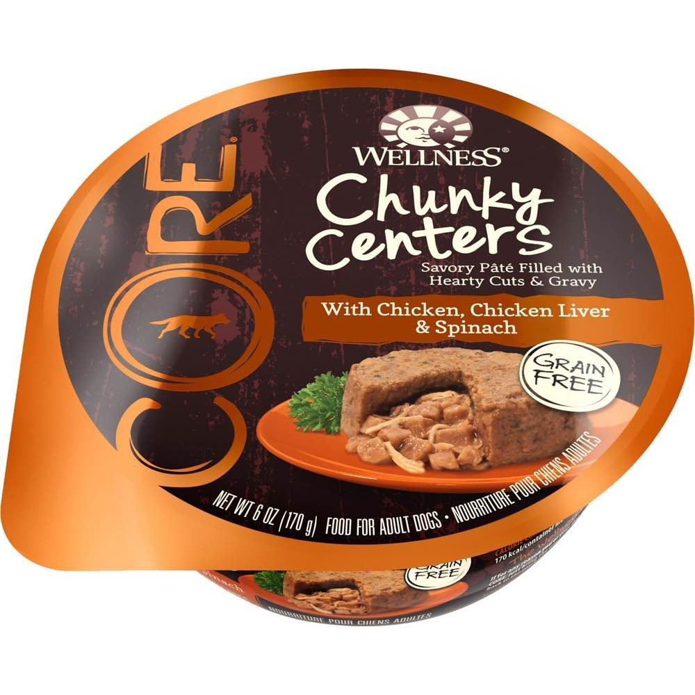 Wellness core chunky centers chicken chicken liver spinach canned wellness core chunky centers chicken chicken liver spinach canned dog food 6oz forumfinder Image collections